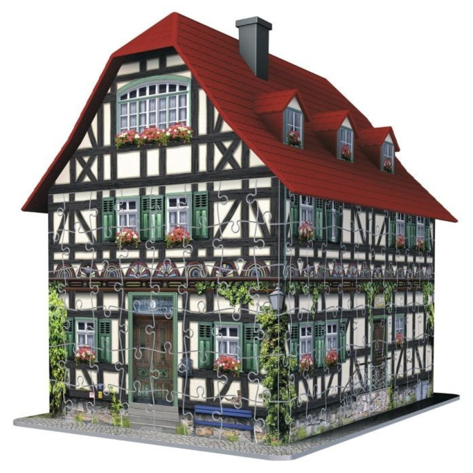 Obrázek 1 produktu 3D Puzzle Středověký dům 216d. Ravensburger