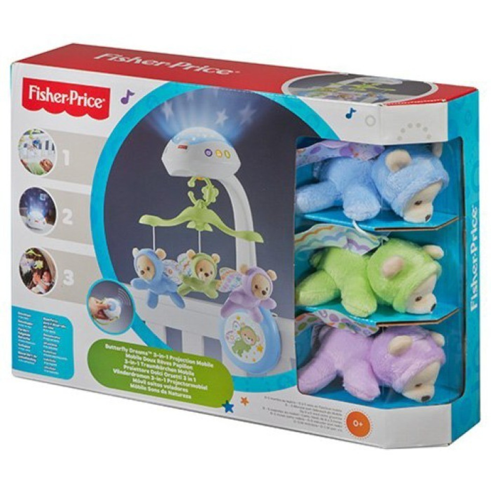 Obrázek 4 produktu Fisher Price Kolotoč nad postýlku Motýlci, Mattel CDN41