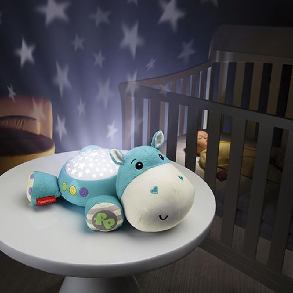 Obrázek 1 produktu Fisher Price Plyšový hrošík projektor na zeď, Mattel CGN86