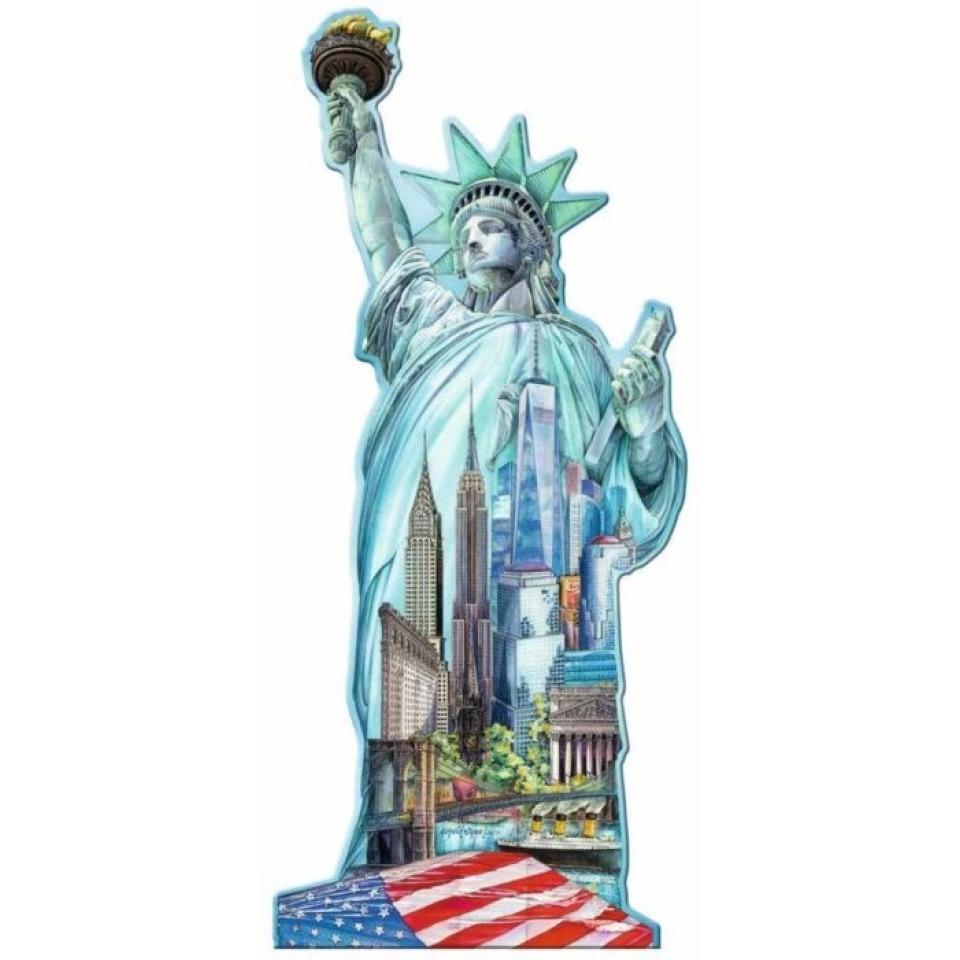 Obrázek 1 produktu Ravensburger 16151 Puzzle Socha Svobody, New York - tvarové 1000 dílků