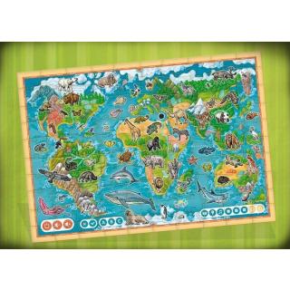 Obrázek 2 produktu Albi Kouzelné čtení Puzzle Planeta zvířat