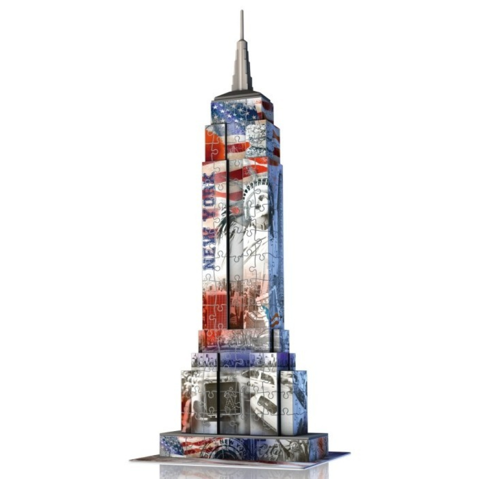 Obrázek 1 produktu Ravensburger 12583 Puzzle 3D Empire State Building, Vlajková edice, 216 dílků