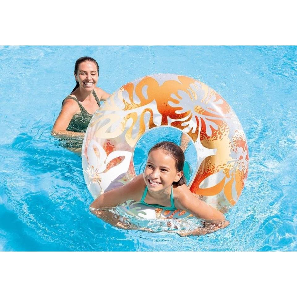 Obrázek 1 produktu Intex 59251 Kruh plovací Květiny 91cm oranžový