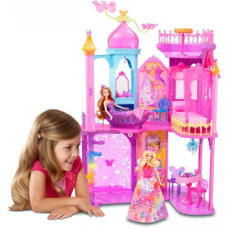 Obrázek 2 produktu Barbie Kouzelná dvířka Velký princeznin zámek, Mattel BLP42