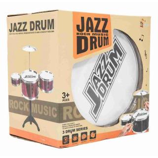 Obrázek 2 produktu Dětská sada 3 bubnů JAZZ DRUM + činel (bicí souprava)