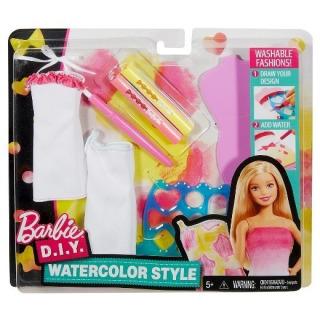 Obrázek 2 produktu Barbie D.I.Y. akvarelové návrhářství růžovožluté, Mattel DWK51