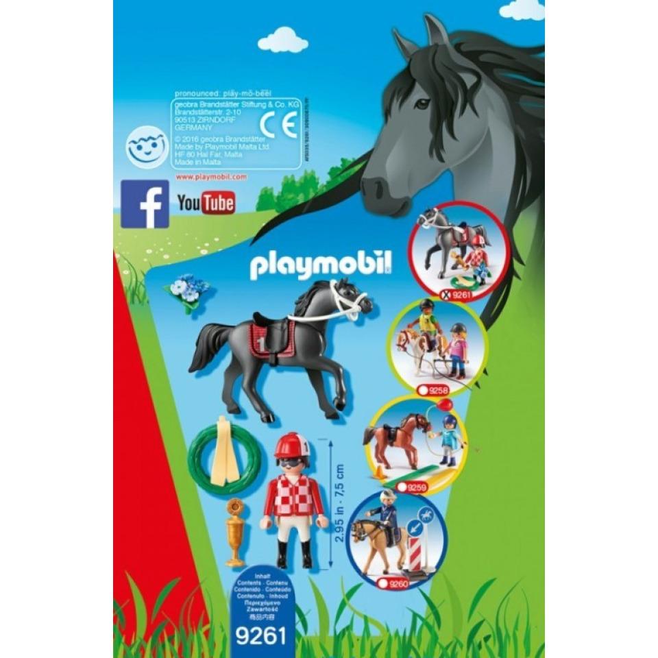 Obrázek 2 produktu Playmobil 9261 Žokej na koni