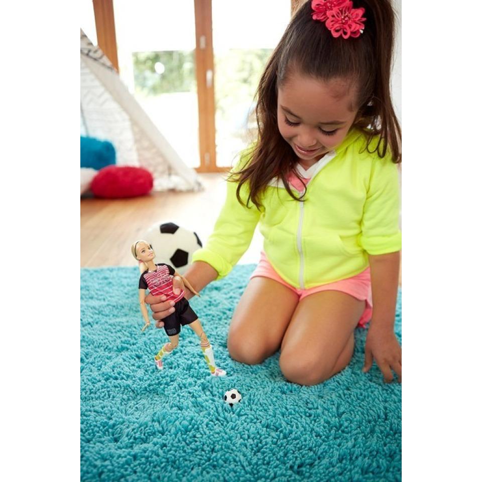 Obrázek 2 produktu Barbie sportovkyně Fotbalistka blondýnka, Mattel DVF69