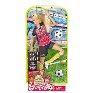 Obrázek 4 produktu Barbie sportovkyně Fotbalistka blondýnka, Mattel DVF69