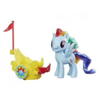 Obrázek 2 produktu MLP My Little Pony Poník s vozíkem Rainbow Dash, Hasbro B9835