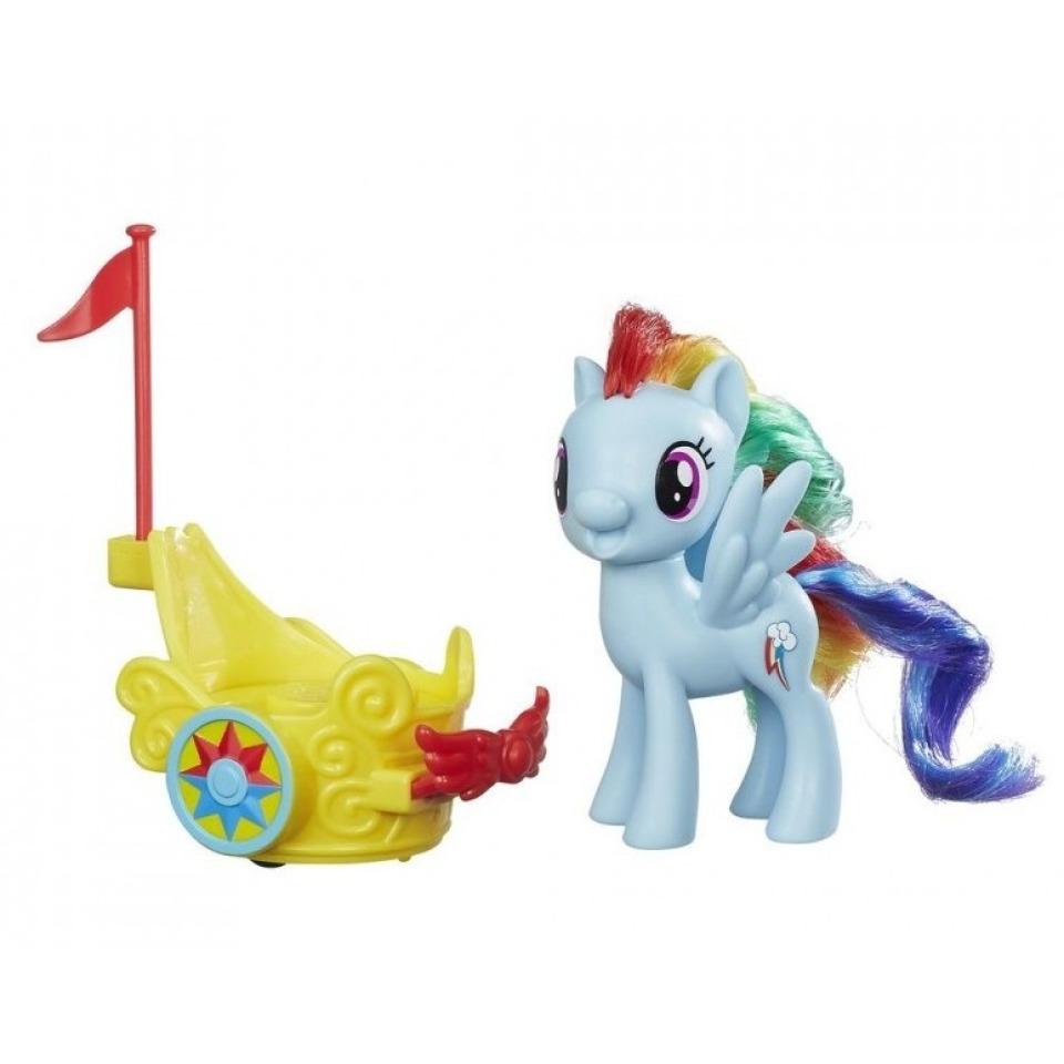 Obrázek 1 produktu MLP My Little Pony Poník s vozíkem Rainbow Dash, Hasbro B9835
