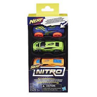 Obrázek 2 produktu NERF Nitro náhradní vozidla 3 ks, modré, zelené, oranžové, Hasbro C0775