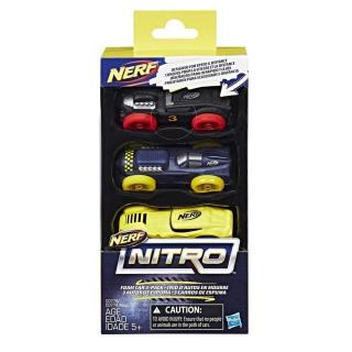 Obrázek 2 produktu NERF Nitro náhradní vozidla 3 ks, černé, modré, žluté, Hasbro C0778