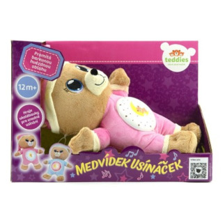 Obrázek 2 produktu Usínáček medvídek růžový, světlo zvuk