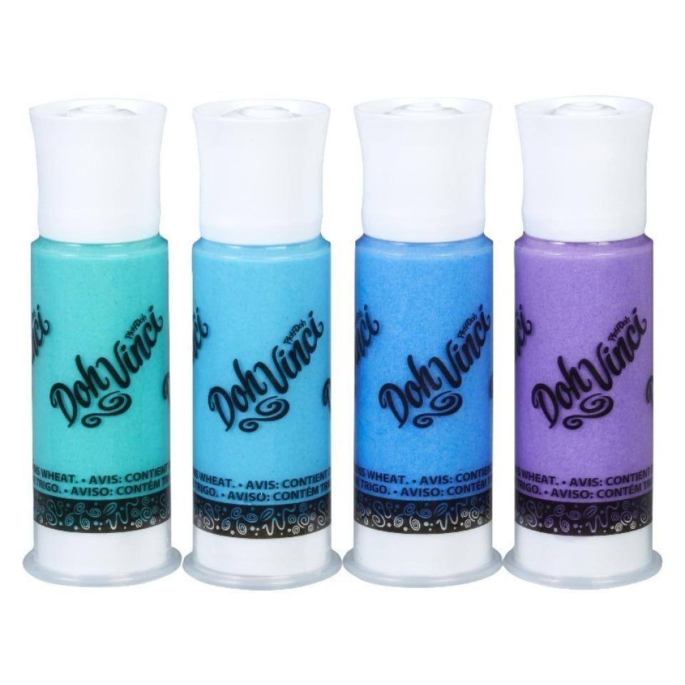 Obrázek 1 produktu Play Doh Dohvinci 4 náhradní tuby -zelená, tyrkysová, modrá, fialová
