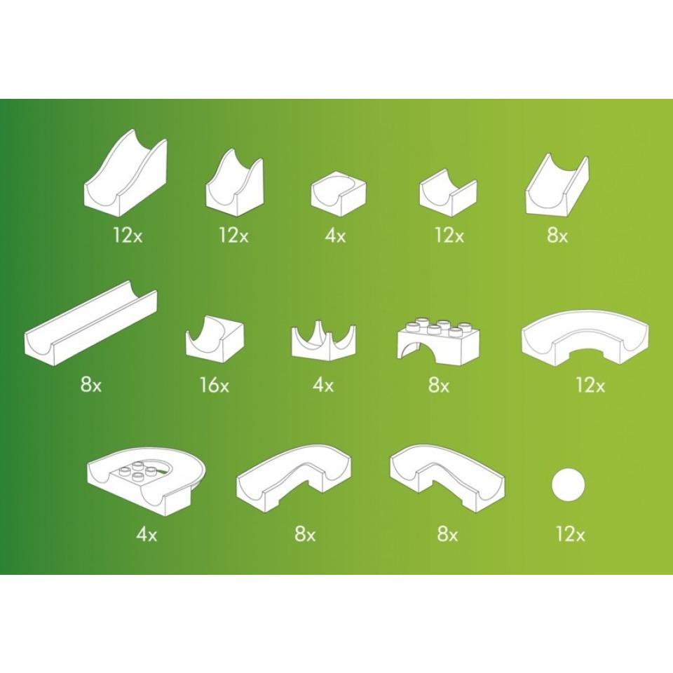 Obrázek 3 produktu HUBELINO Kuličková dráha Set bez kostek 128 ks