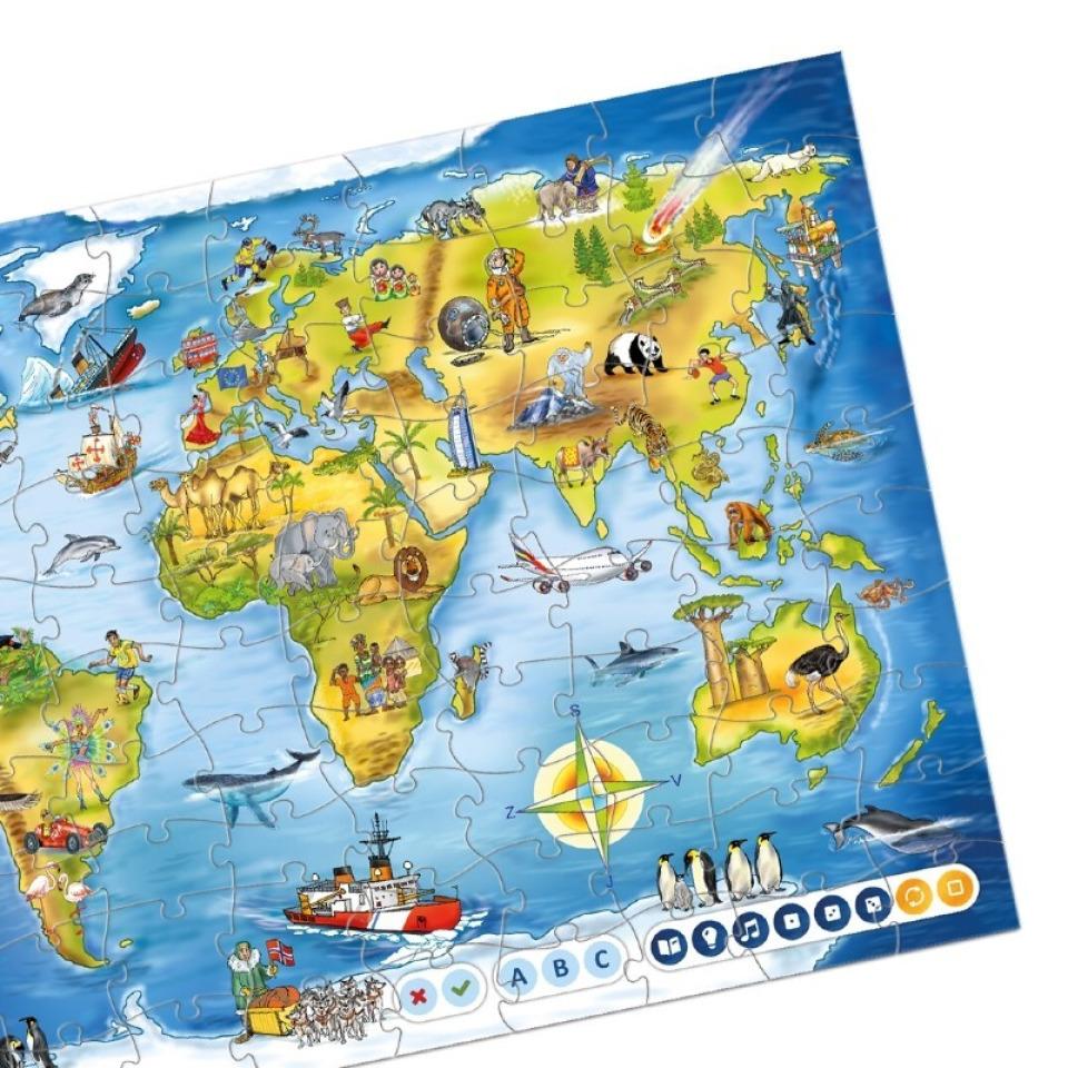 Obrázek 1 produktu Albi Kouzelné čtení Puzzle Svět