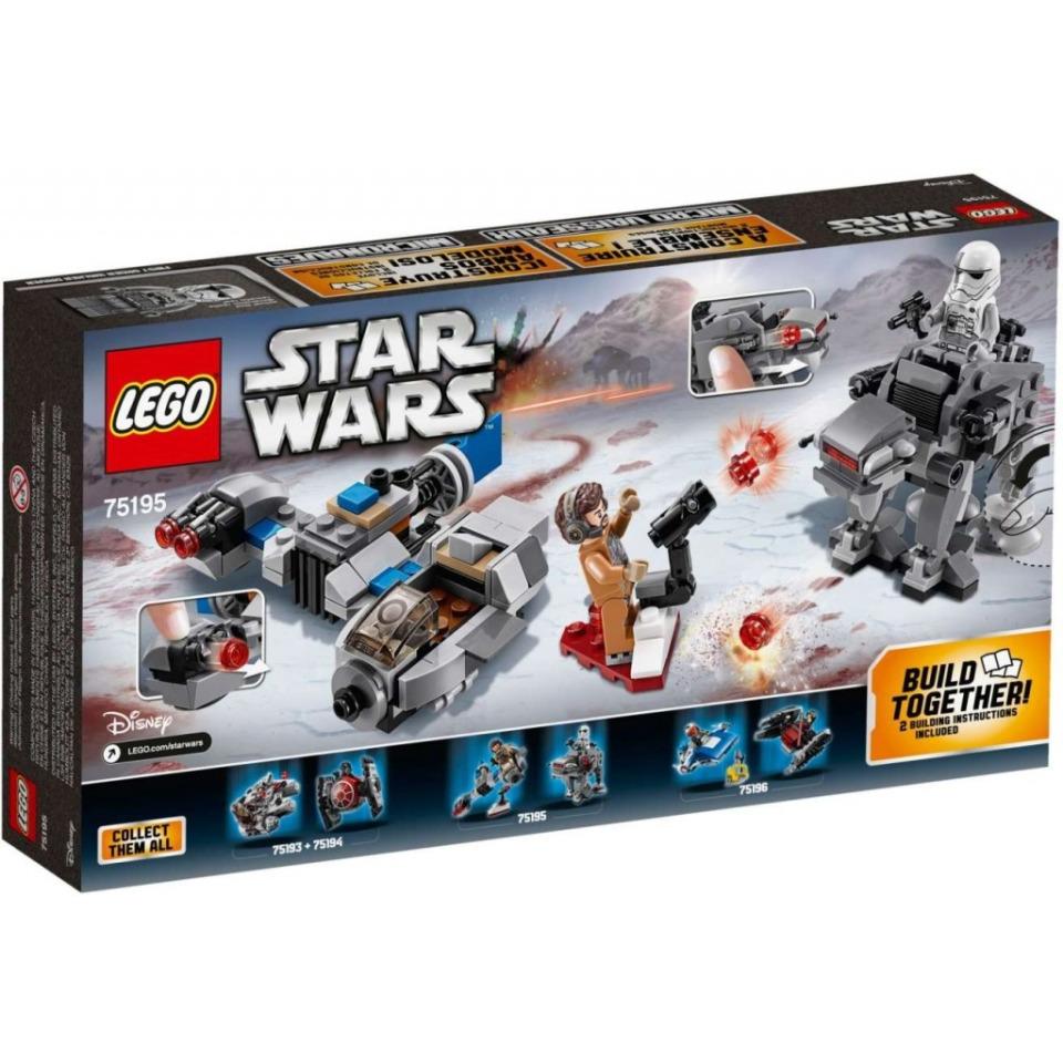 Obrázek 1 produktu LEGO Star Wars 75195 Snežný spídr™ a kráčející kolos Prvního řádu™