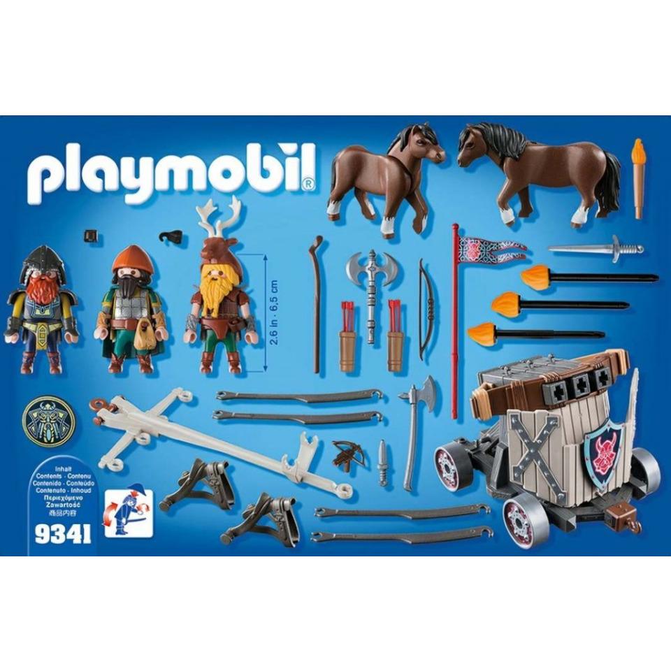Obrázek 4 produktu Playmobil 9341 Poníci táhnoucí balistu s trpaslíky