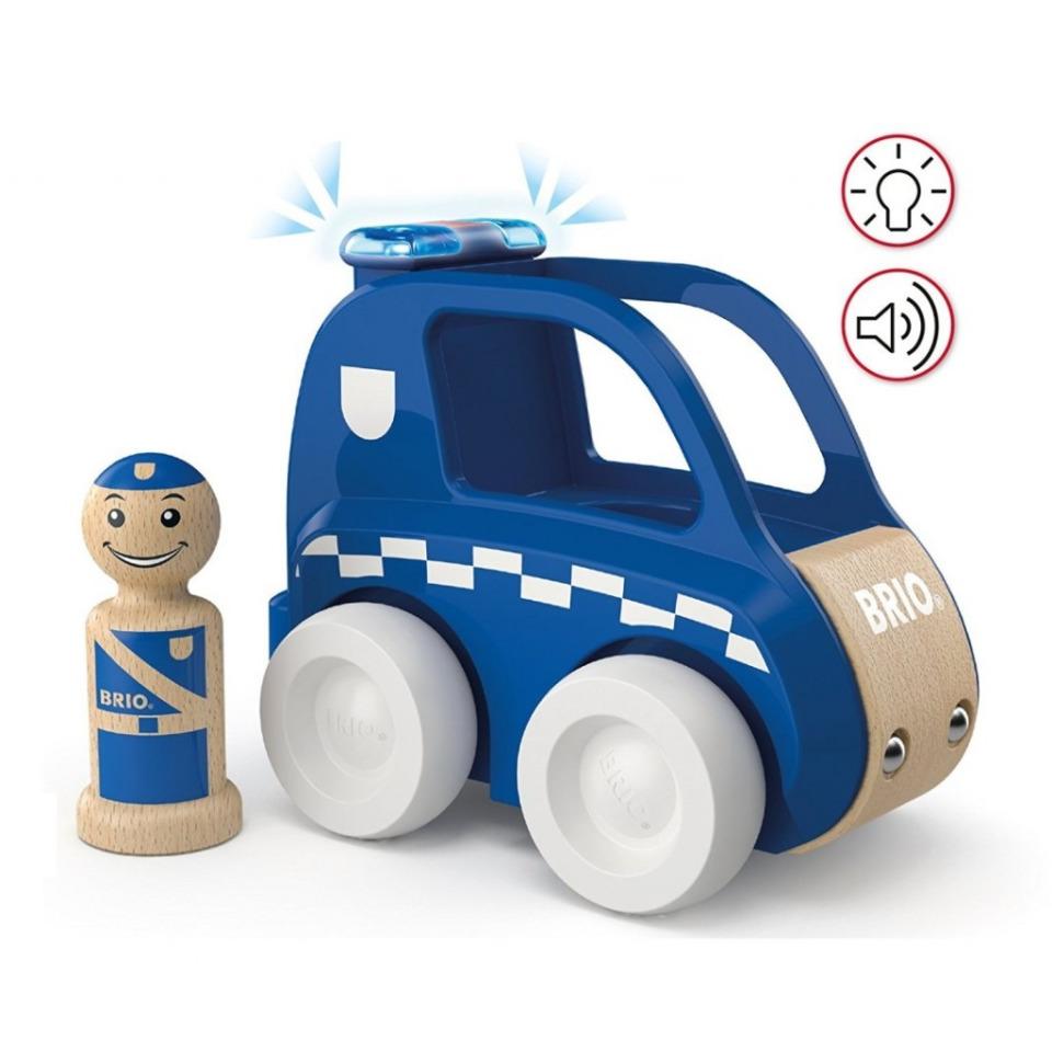 Obrázek 1 produktu BRIO 30377 Svítící a zvukové policejní auto