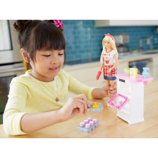 Obrázek 4 produktu Barbie Vaření a pečení s panenkou Barbie, Mattel FHP57
