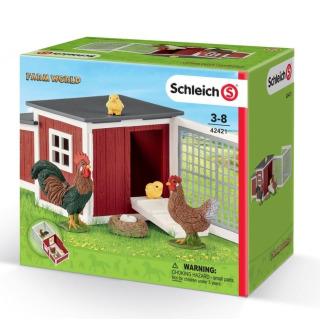 Obrázek 2 produktu Schleich 42421 Set kurník se zvířátky a příslušenstvím