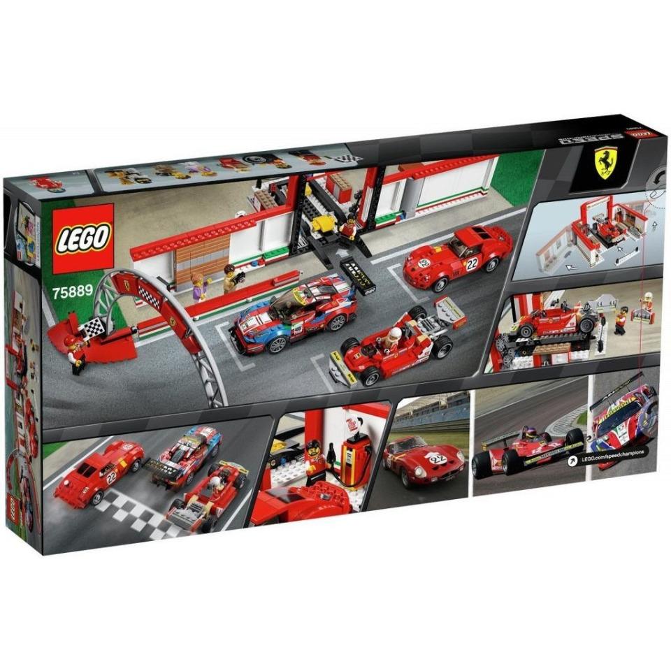 Obrázek 1 produktu LEGO Speed Champions 75889 Úžasná garáž Ferrari