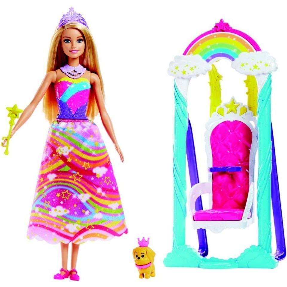 Obrázek 1 produktu Barbie princezna s duhovou houpačkou, Mattel FJD06