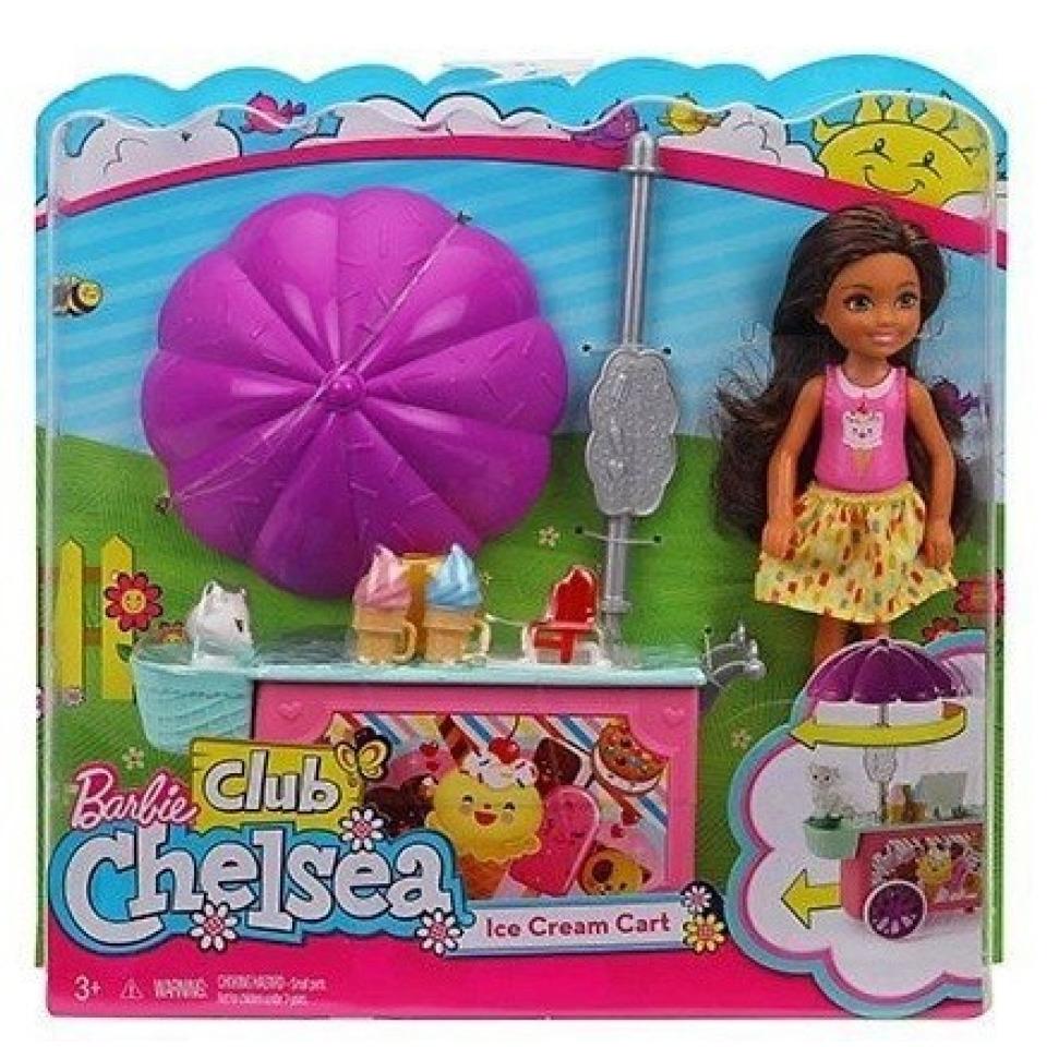 Obrázek 2 produktu Barbie Chelsea, Skipper a stánek se zmrzlinou, Mattel FDB33