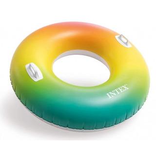 Obrázek 3 produktu Intex 58202 Kruh plovací s úchyty Rainbow Ombre 122cm