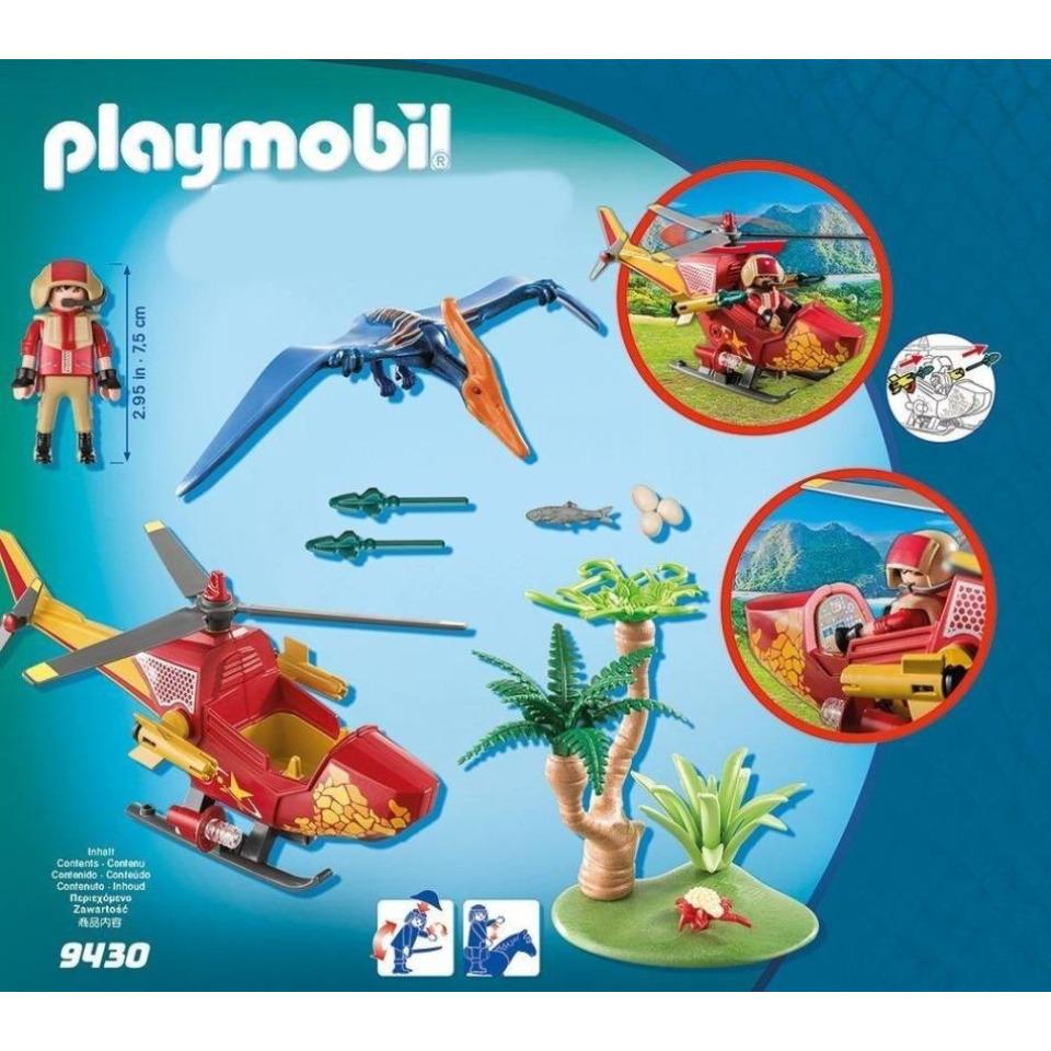 Obrázek 1 produktu Playmobil 9430 Vrtulník s Pterodactylem