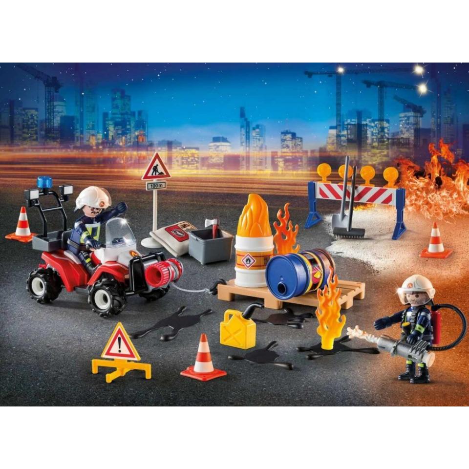Obrázek 1 produktu Playmobil 9486 Adventní kalendář Zásah hasičů