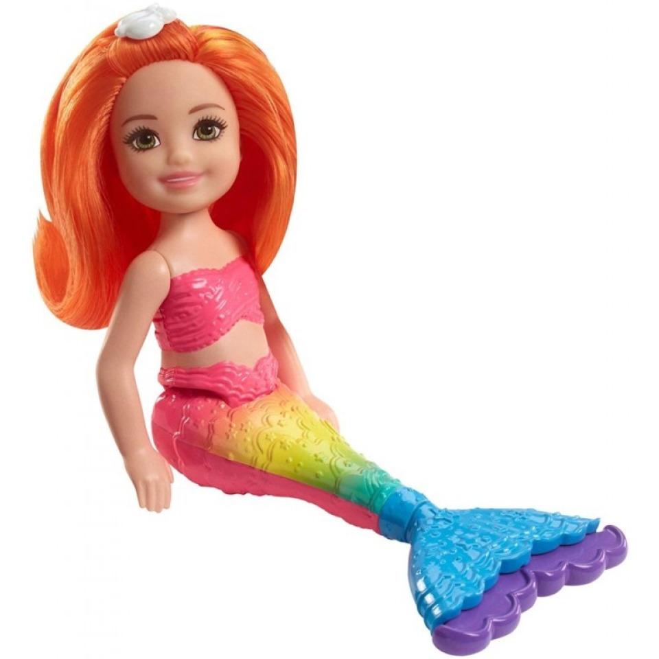 Obrázek 1 produktu Barbie Chelsea Mořská panna - oranžové vlasy, Mattel FKN05