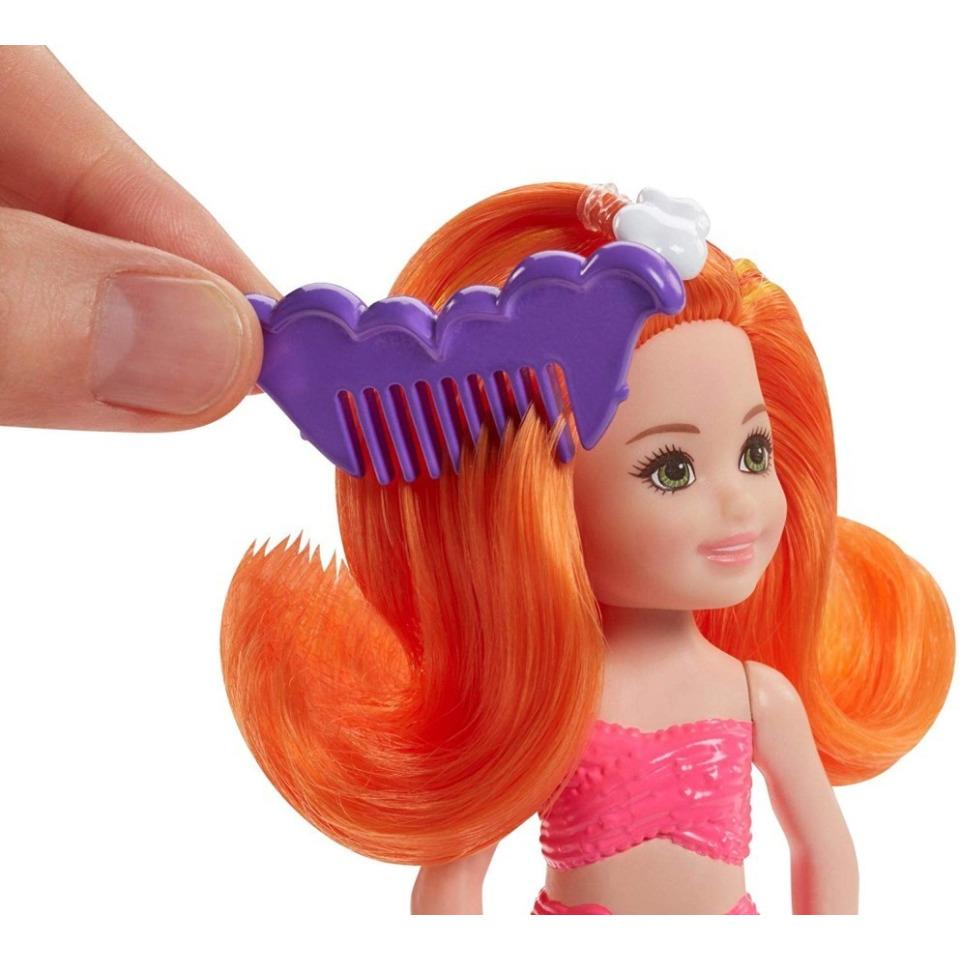 Obrázek 2 produktu Barbie Chelsea Mořská panna - oranžové vlasy, Mattel FKN05