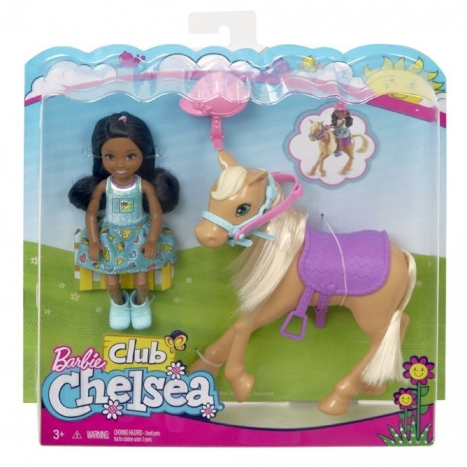 Obrázek 2 produktu Barbie Chelsea s poníkem, Mattel FRL84