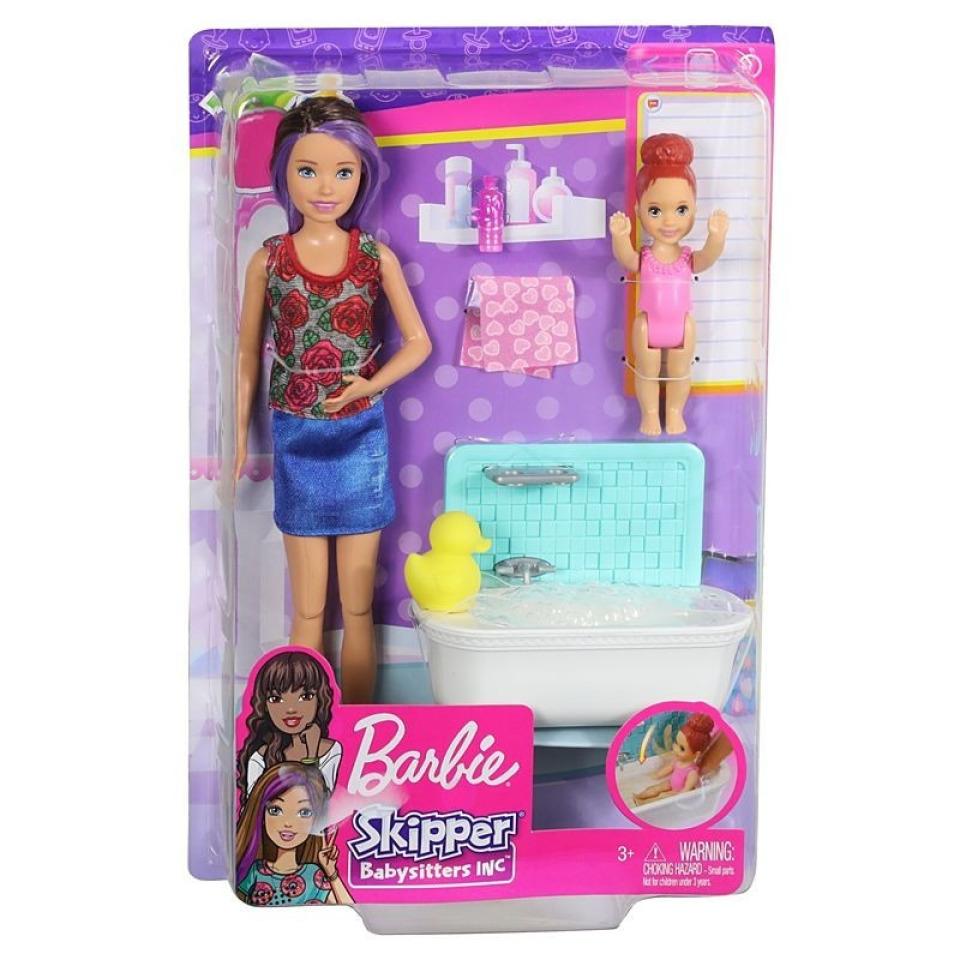 Obrázek 1 produktu Barbie Chůva herní set v koupelně, Mattel FXH05