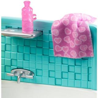 Obrázek 5 produktu Barbie Chůva herní set v koupelně, Mattel FXH05