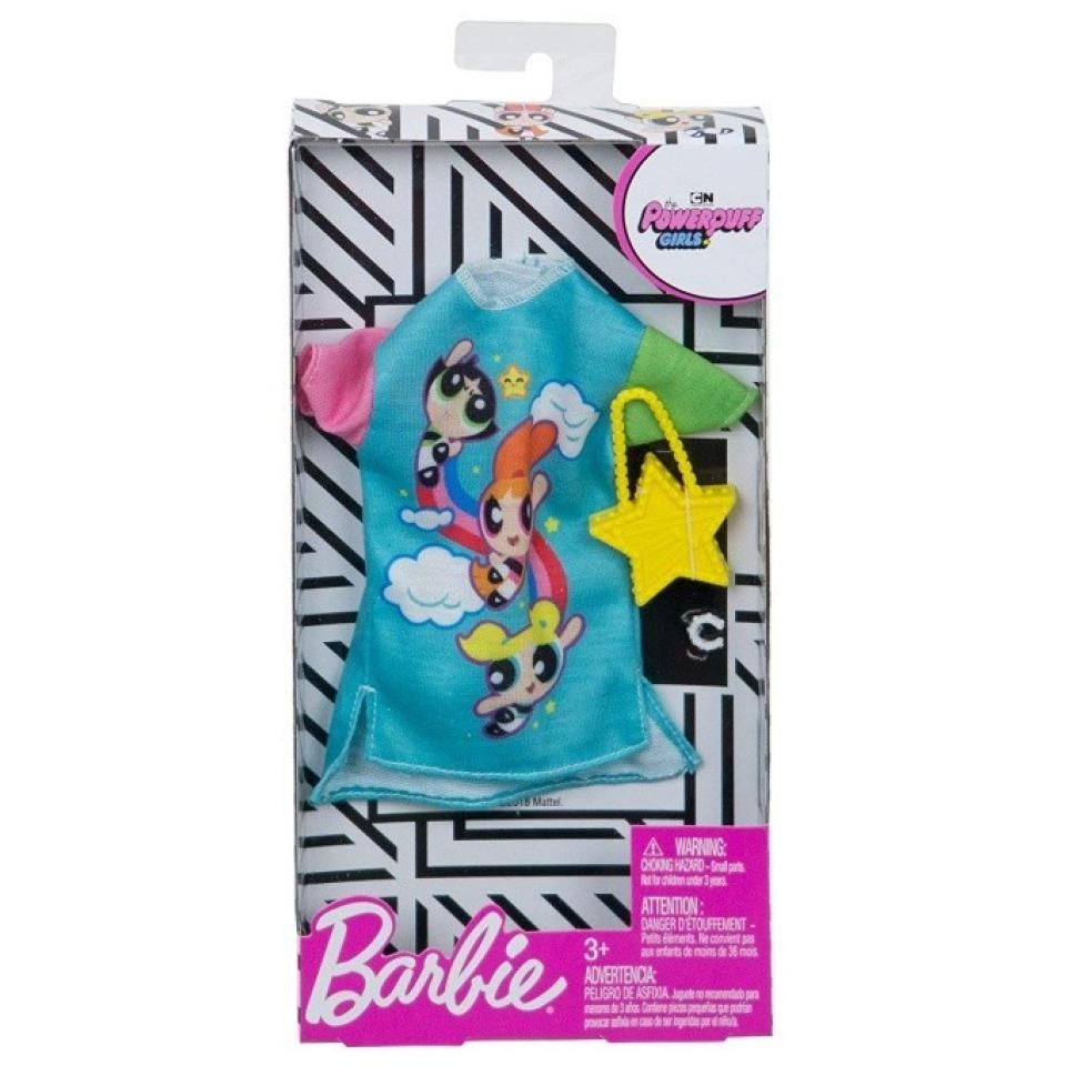 Obrázek 1 produktu Barbie Šaty Powerpuff girls módní set 2, Mattel FXK67