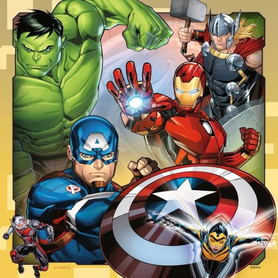 Obrázek 1 produktu Ravensburger 08040 Puzzle Disney Marvel Avengers 3x49 dílků