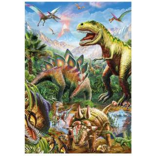Obrázek 2 produktu Puzzle Svět dinosaurů 100 DXL neon, Dino