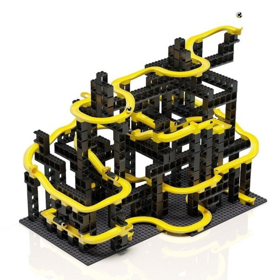 Obrázek 1 produktu HUBELINO Pi Kuličková dráha - set s kostkami XL 246 ks