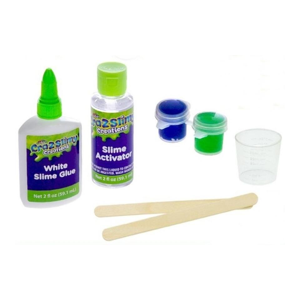 Obrázek 1 produktu Sada na výrobu slizu Cra-z-slimy svítícího ve tmě s doplňky
