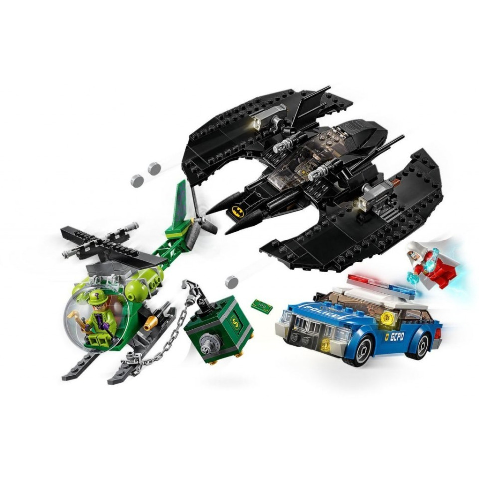 Obrázek 3 produktu LEGO Super Heroes 76120 Batmanovo letadlo a Hádankářova krádež