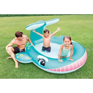 Obrázek 2 produktu Intex 57440 Dětský bazén s rozstřikováním Velryba