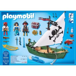 Obrázek 3 produktu Playmobil 70151 Pirátská loď s motorem