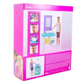 Obrázek 4 produktu Barbie Ken s nábytkem - Koupelna, Mattel FYK53