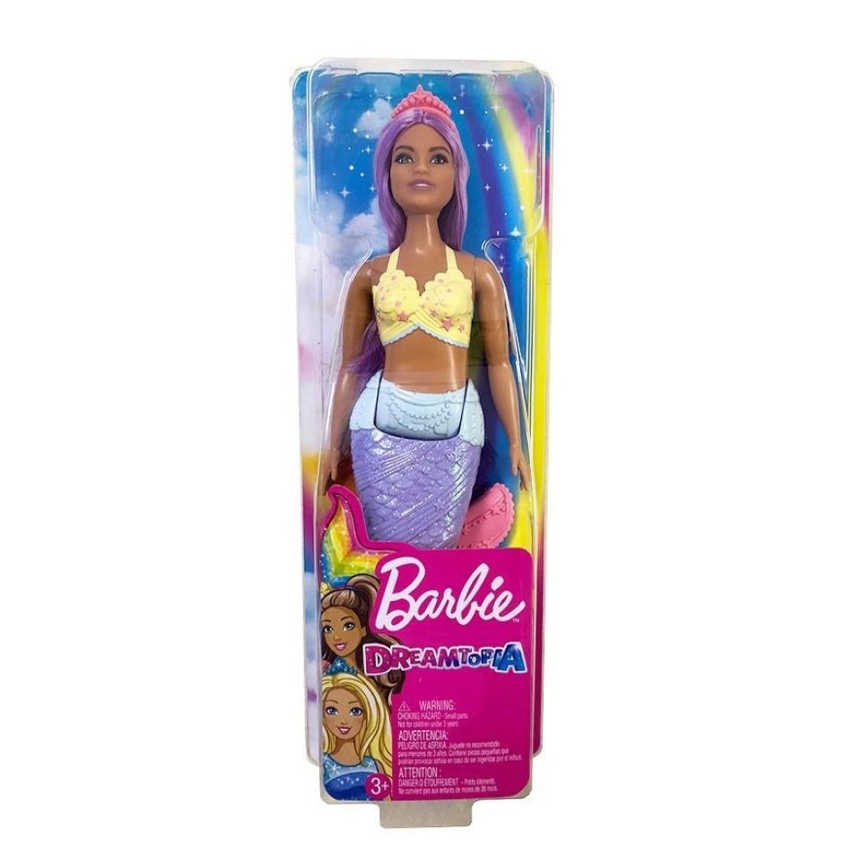 Obrázek 3 produktu Barbie Dreamtopia Mořská víla fialové vlasy, Mattel FXT09