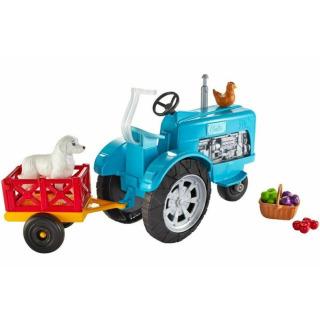 Obrázek 2 produktu Barbie Herní set Farma modrý traktor, Mattel GFF49