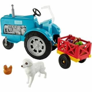 Obrázek 3 produktu Barbie Herní set Farma modrý traktor, Mattel GFF49