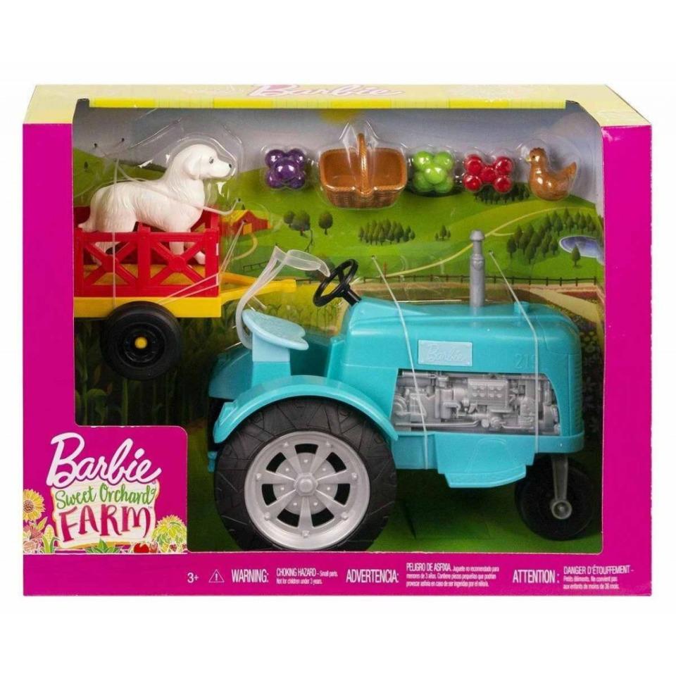 Obrázek 4 produktu Barbie Herní set Farma modrý traktor, Mattel GFF49